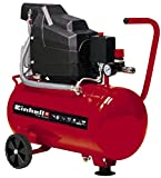 Einhell 4007325 Compressor TC-AC 190/24/8 (Maximum 8 bar, 24 Litre Tank, Oil Lubrication, Pressure Reducer, Pressure Gauge + Quick-Release Coupling, Non-Return/Safety Valve, Rubber Foot)
