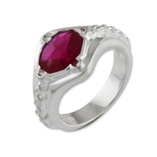 Herr der Ringe Schmuck by Schumann Design Narya Ring 925 Sterling Silber Rg 54 1006-054