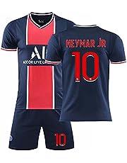 Herenshirt, tweede uitshirt Parijs 2021, Mbappé 7#/Neymar 10# voetbalshirts, kindervoetbalshirt sportpak, T-shirt+shorts