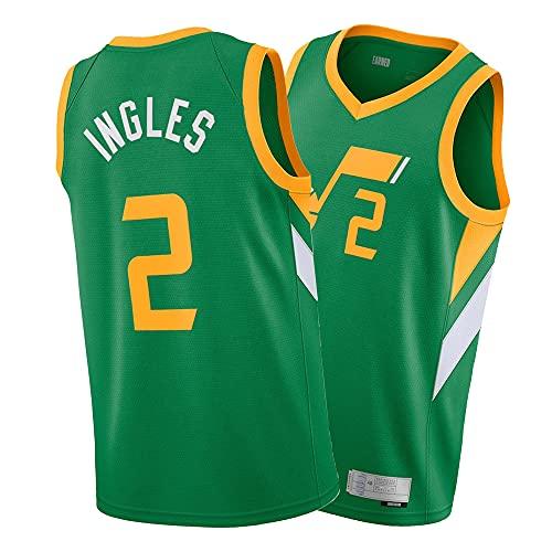ASFHH Camisa de los Hombres del Jersey de Baloncesto de la Temporada 21-22, Jersey de Swingman Verde, Chaleco Deportivo Ingles-XXL