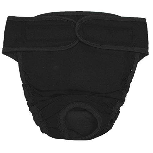 SODIAL(R)Pantalons chien Slips pantalons hygiene pantalons chien chien a couches, Taille XL Noir