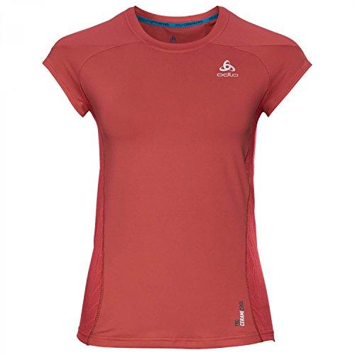 Odlo Damen BL Crew Neck Cerami Cool Pro Shirt XL Baked Apple