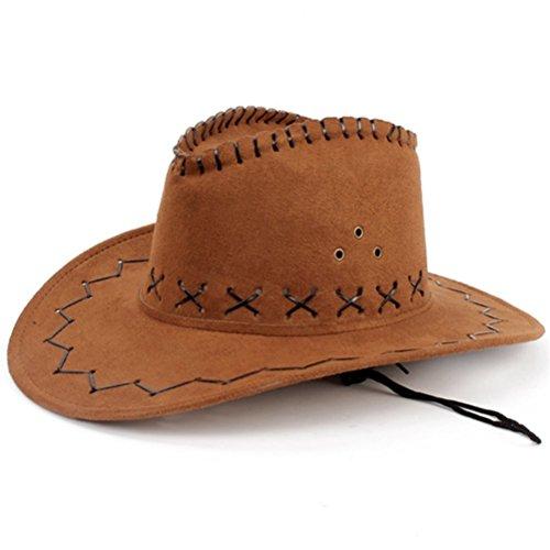 HMILYDYK Cowboyhut für Kostüme und Verkleidungen, breite Krempe, Western, Cowgirl-Hüte