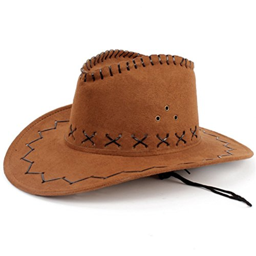 (Coffee) - HMILYDYK Cowboy Hat Fancy Dress Accessory Wide Brim Western Cowgirl Hats Wild West