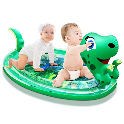 TianQin WY Tummy Time Mat Baby Water Mat Upgraded X-Large 47x29'' Leak-Proof Infant Baby Toddller Toys for 3 6 9 Months, BPA Free Early Development Activity Center Play Center