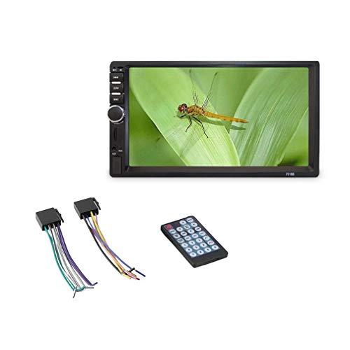 Haowen 7 Pollici Doppio 7018B 2 DIN autoradio FM Stereo con Lettore MP5 Touchscreen Nero
