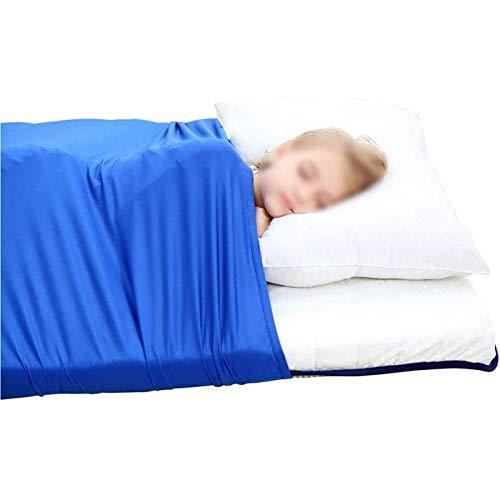 ZWDM Hoja de Cama sensorial Hoja de compresión Transpirable Alternativa a la Manta ponderada Cómodo Nylon Sleeping Ropa de Cama para niños (Size : 69x132cm)