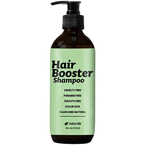 Naturala Hair Growth Shampoo with Natural DHT Blockers and Ketoconazole - Helps with thinning hair for both Men and Women