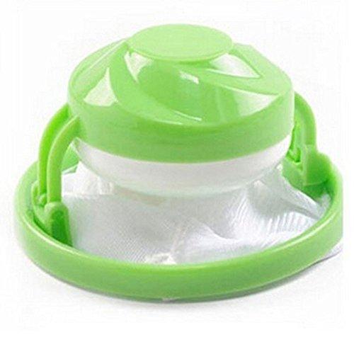 clacce Filterbeutel Waschmaschine filterbeutel, Hair Catcher Wäschekugel, Haarentfernung Schwimmfilter, Netzbeutel Wiederverwendbar Ball Zum Reinigen (Runde (1 Stück), Grün)