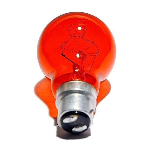 4 x FIREGLOW 60W Classic BC B22 Light Bulbs, Bayonet Cap, Red Glow [Energy...