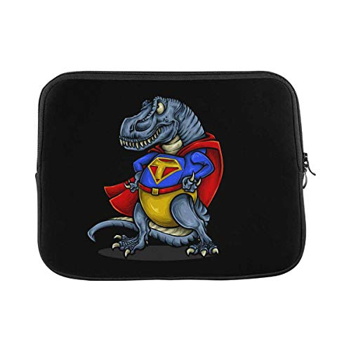Superhero Dinosaurs Laptop Sleeve Case 14 Inch Briefcase Cover Protective Notebook Laptop Bag