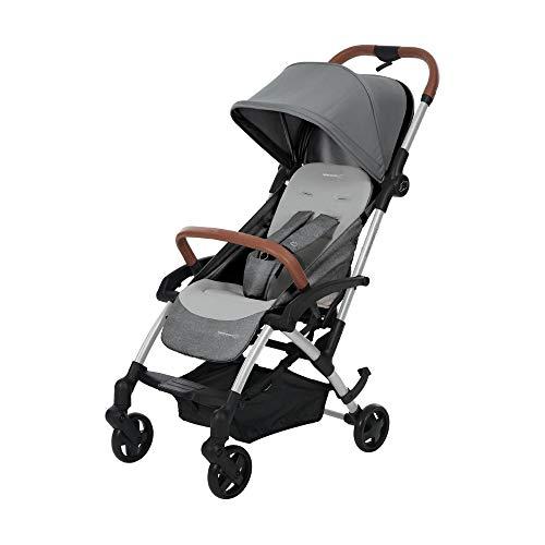 Bébé Confort LAIKA 2 'Nomad Grey' - Cochecito super urbano, ultracompacto y ligero, homologado para viajar, desde 0 meses hasta 3,5 años, color gris