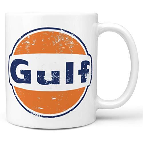 O5KFD&8 11 Unze Golf, der Retro läuft Wasser Tee Becher Tassen mit Griff Keramik Personalized Becher - Orange Blau Mädchen Frauen Geschenke, Anzug für Büro verwenden White 330ml