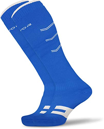 Mayor MSS404 Cotton Men's Solid Knee Length Socks for Hockey/Soccer (Blue)