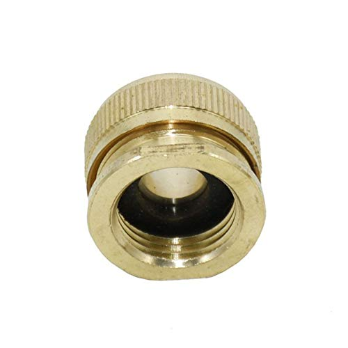 Zyilei-pipe joint 1PCS Female 1/2 To 1/2 Garden Hose Connector, Brass 16mm Irrigation Hose Fittings, Tap Adapter Female Adapter, Easy to Connect (Color : YELLOW)