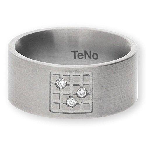 Teno Edelstahl Ring mit Brillanten 069.10S01.D39.55