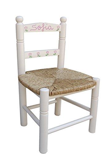 MAKONDO IMPORT-EXPORT Silla Infantil Personalizada 6 Colores 34X30X60 (Blanco)