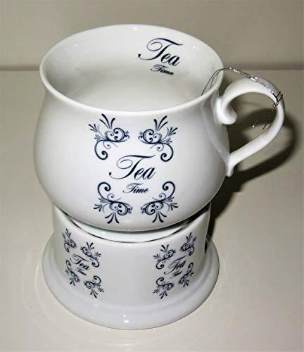 Cha Cult Becher auf Stövchen Tea Time Porzellan 0,35 l