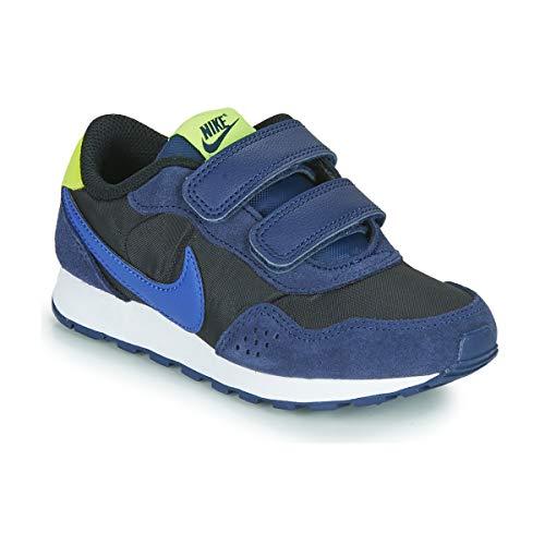 Nike MD Valiant PS Zapatillas Moda Nino Negro/Azul/Amarillo - 34 - Zapatillas Bajas Shoes