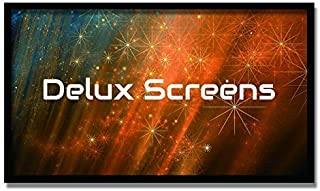 Delux Screens 135 inch Ambient Light Rejecting 4K/8K Ultra HDR Projector Screen - Active 3D Ready - 6 Piece Fixed Frame - Home Theater Movie Projection Screen - Velvet Border (135