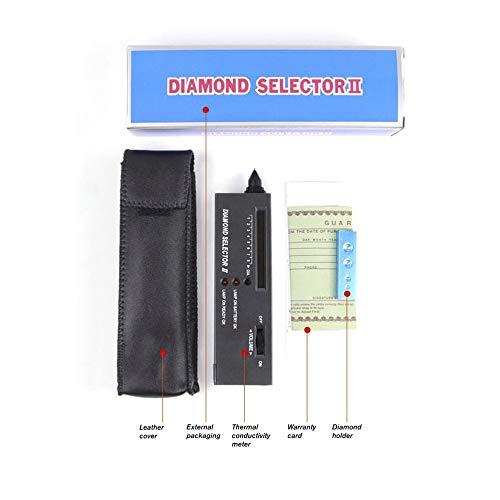 gfjfghfjfh Diamant-Prüfvorrichtung Hohe Genauigkeit Portable Diamond Detective-Test mit Gem Tester Juweliers Test Tool Juwelier Lupe 60X Vergrößerungs