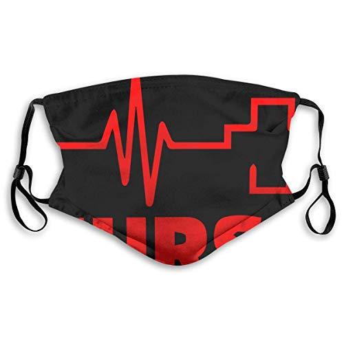 Hart.M Gesichtsbedeckung Krankenschwester Herzschlag Rotes Kreuz Bandanas Gesichtsschal im Freien Sporthalsmanschette Mundschutz