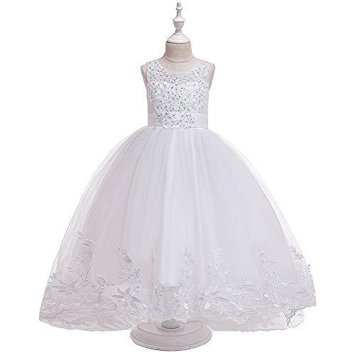 HO-TBO meisjes jurk, kinderjurk geborduurd open rug pluizig prinses bruidsjurk lange jurk voor meisje veranderen uw meisje in een nobele prinses