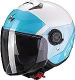 Scorpion Casco de moto EXO-CITY SYMPA White-Light Blue, Blanco/Azul, M