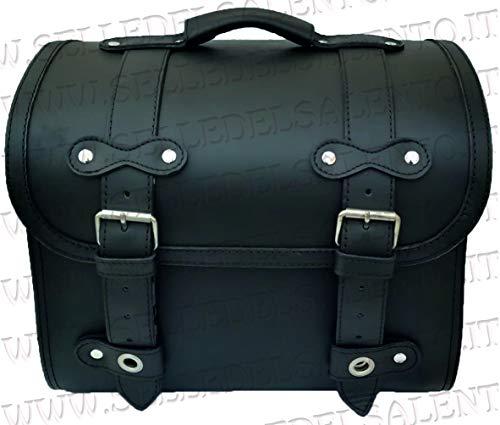Bauletto borsone borsa Vespa Lambretta portapacchi vera pelle valigia moto custom