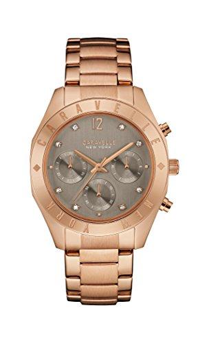 Caravelle New York Damen-Armbanduhr BOYFRIEND Chronograph Quarz Edelstahl beschichtet 44L190