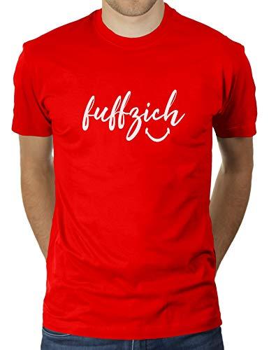 Fuffzich - Fünfzig - Trage es mit einem Lächeln - Geburtstag Nummer 50 - Herren T-Shirt von KaterLikoli, Gr. 3XL, Red