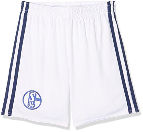 adidas Kinder FC Schalke 04 Home Short Youth, White/Dark Blue, 164