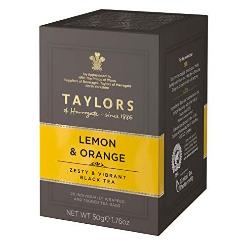 Taylors of Harrogate Black Tea Limon y naranja - 1 x 20 Bolsitas de te (50 gramos)