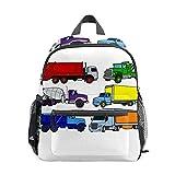 Colorido juguete camiones ilustraciones mochila para niña niño mini viaje mochila primaria preescolar estudiante Bookbag pequeña escuela
