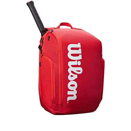 Wilson Sporting Goods Bolsa de tenis, color rojo, sin tamaño.