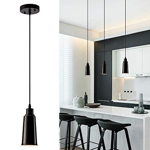 Colgante de 1 luces de cerámica, lámpara colgante moderna