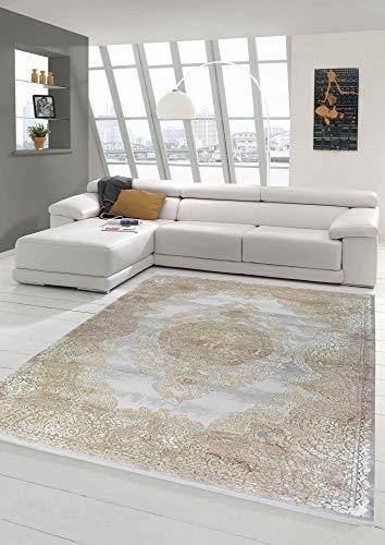 Merinos Hochwertiger Orientteppich mit klassischen Ornamenten in Beige Größe 200 x 290 cm