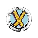 Kawaii Divertido inglés Letra X monederos Perchero Soportes para Bolsos diseños únicos sección Plegable Bolsa de Almacenamiento Percha portátil