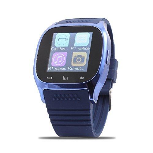 DealMux Llamadas Deporte M26 sincronización del teléfono Inteligente Anti-pérdida del Reloj Azul para iOS teléfonos Inteligentes Android