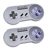 Zeato 2.4GHz Wireless Controller for SNES/NES Mini , Rechargeable SNES Classic Edition Wireless Gamepad with Retro/USB Receiver for Super NES Classic Edition (2Pack)