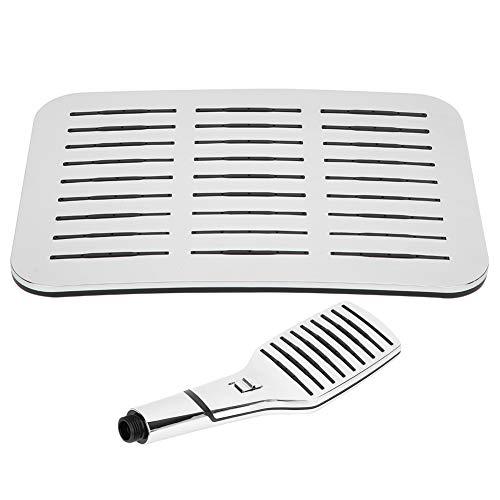 Cabezal de ducha tipo lluvia G1 / 2in Material ABS resistente a altas temperaturas Diseño que ahorra agua Presión normal Plata brillante para baño
