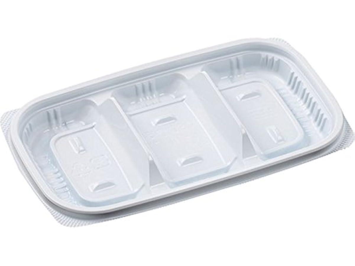 ありふれた繰り返すアコーエフピコ 使い捨て容器 惣菜 MSD惣菜18-11(17)-3 白 7E811817 50枚入