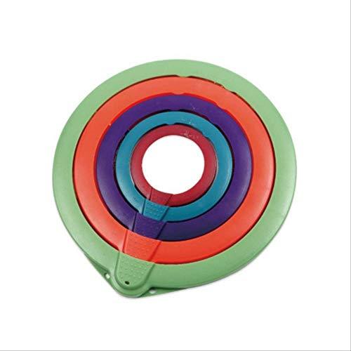 Silicone Coperchi Estensibile Freschi Avvolgere Riutilizzabili Alimenti In Silicone Ad Alta Elasticità Avvolgere Alimenti Coperchio Sottovuoto Coperchio Elasticizzato 10-28cm Set 5 pezzi colorato