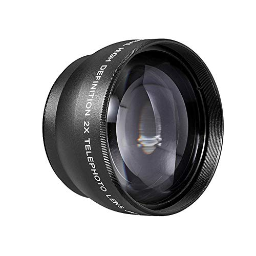 Neewer 10000084, Teleobiettivo con borsa per fotocamere reflex digitali e videocamere con filtro da 52 mm, Nero