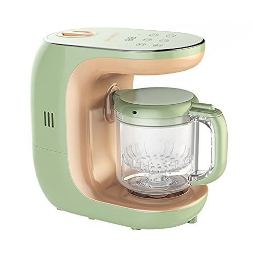 CHENSHJI Procesador de Alimentos Máquina De Complemento De Alimentos para Bebés Máquina De Alimentación Máquina De Cocción Multiusos Máquina Amoladora (Color : Verde, Size : 24x24x13cm)