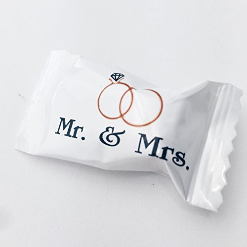 Buttermints - 13 oz. Bag - Approximately 100 Individually Wrapped Mints (Mr. and Mrs.)