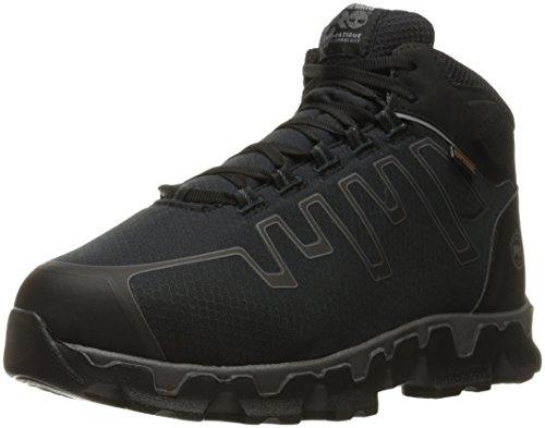 Timberland PRO Men's Powertrain Sport Internal Met Guard Alloy Toe Industrial & Construction Shoe, Black Synthetic, 10.5 W US