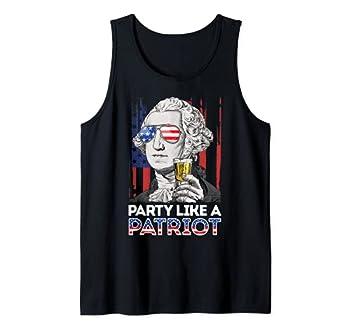 George Washington 4th Of July Party Like A Patriot Men Women Tank Top