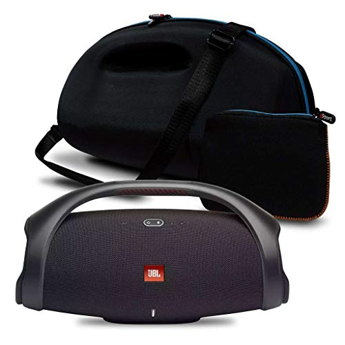 JBL Boombox 2 IPX7 Waterproof Portable Bluetooth Speaker Bundle with gSport Deluxe Travel Case and Accessory Pouch (Black)
