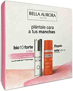 Bella Aurora PACK Bio 10 Forte L-Tigo Tratamiento Despigmentante 30ml+REGALO Solar SPF50 Piel Sensible 50ml